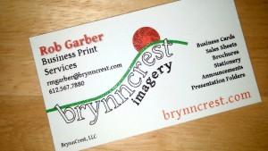 Business Card Raised Print